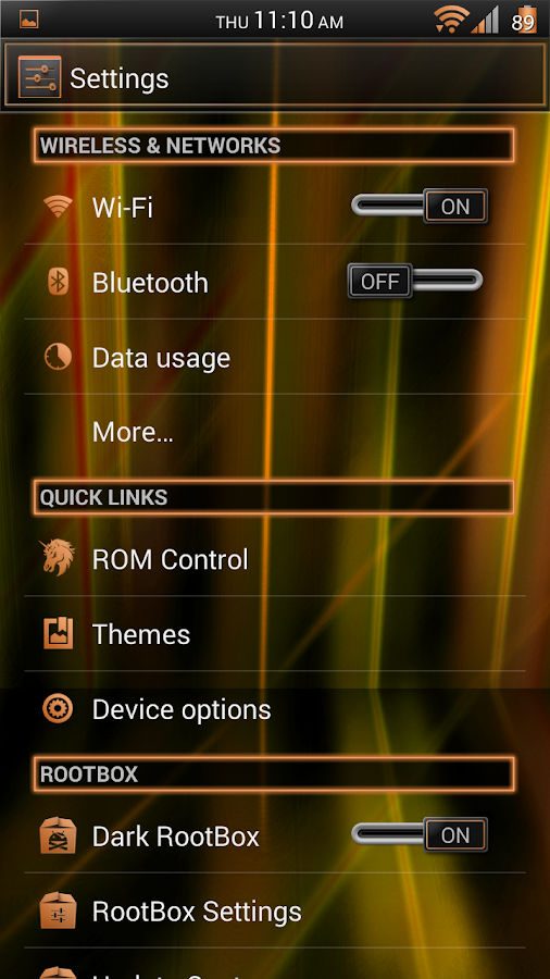 Laser Orange CM11 Theme Free - screenshot