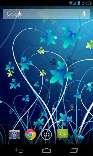 浪漫植物動態桌布