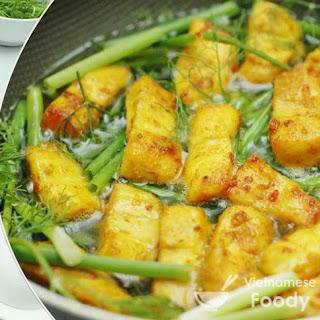Hanoi Tumeric Fish with Dill (Cha Ca La Vong)