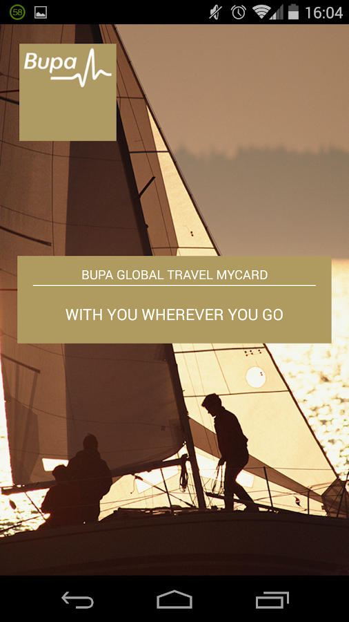 Bupa Global Travel myCard- screenshot