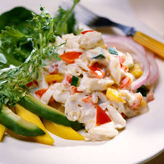 Caribbean Crabmeat Salad With Creamy Gingered Dressing.