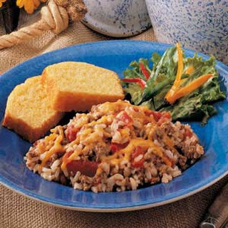 Baked Beefy Spanish Rice
