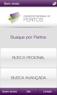 Cadastro Nacional de Peritos - screenshot thumbnail