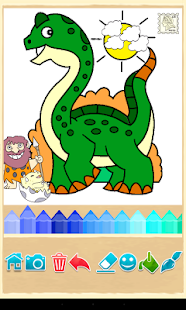 Dino Coloring Game- screenshot thumbnail