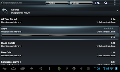 Poweramp skin Black Petrol APK screenshot thumbnail 12