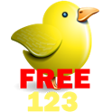 Baby's number school(bird)Free icon