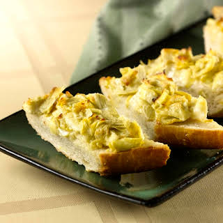 Easy Cheesy Artichoke Bread.