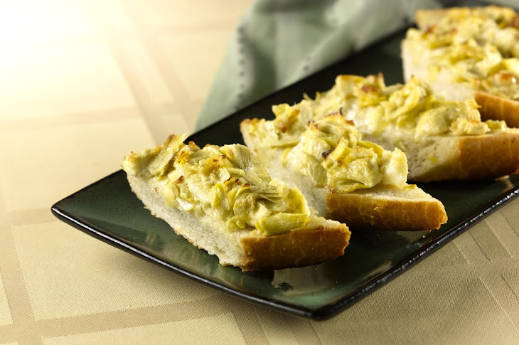 Easy Cheesy Artichoke Bread Recipe