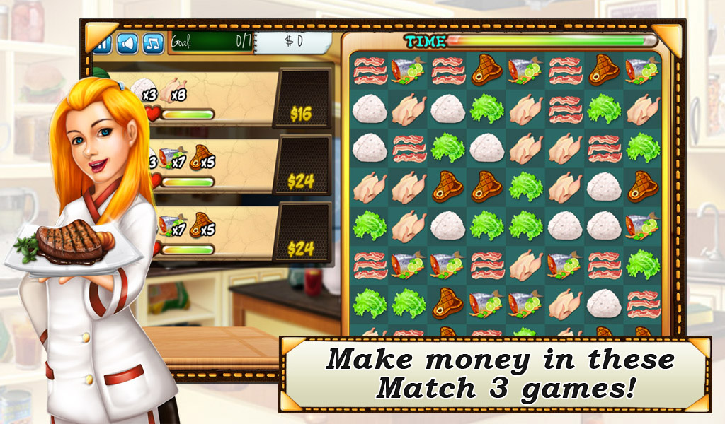 Match-3 Rorys Restaurant- screenshot