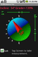 Screenshot of Inclinometer Pro