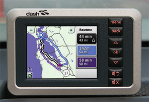 Dash Express navigation screen