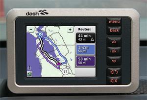 Dash Express navigation screen
