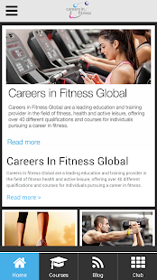 Careers in Fitness Global App- screenshot thumbnail