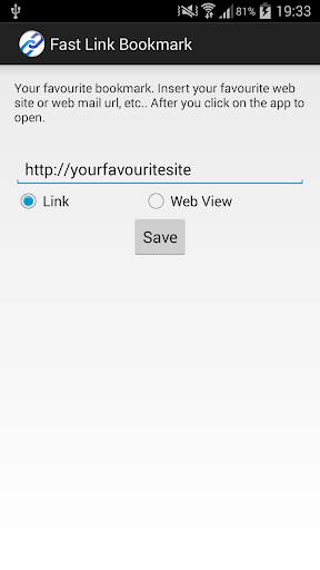 Fast Link Bookmark for Android