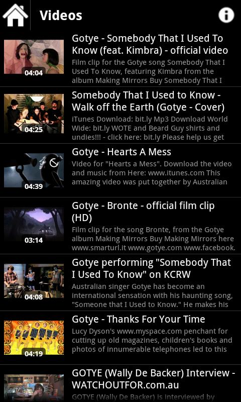 Gotye Media - screenshot
