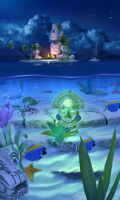 Ocean Aquarium 3D: Lost Temple - screenshot