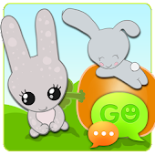 GO SMS Pro Sweet Bunny Theme