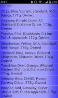Screenshot of Disc Golf Cataloger