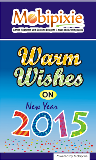 Warm wishes New Year Greetings