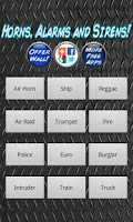 Screenshot of Horns Alarms and Sirens