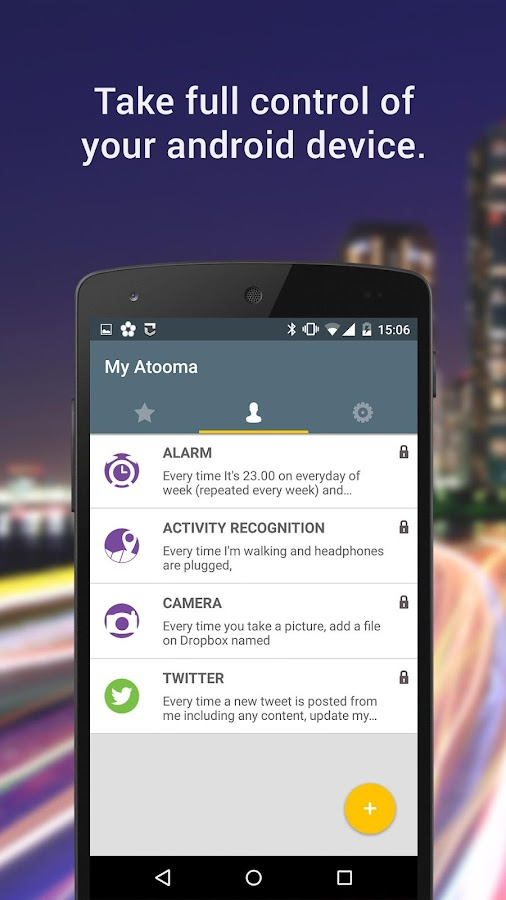 Atooma - Smart Assistant- screenshot