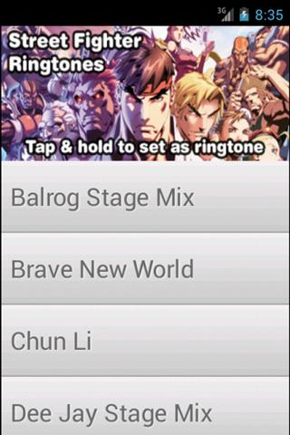 Street Fighter Ringtones: FREE - screenshot