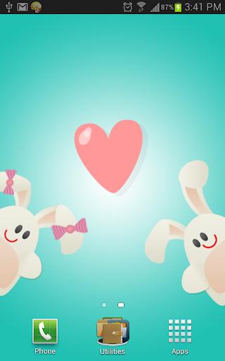 Cute Lovers Live Wallpaper