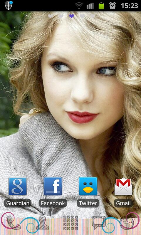 Taylor Swift Go Launcher Theme - screenshot