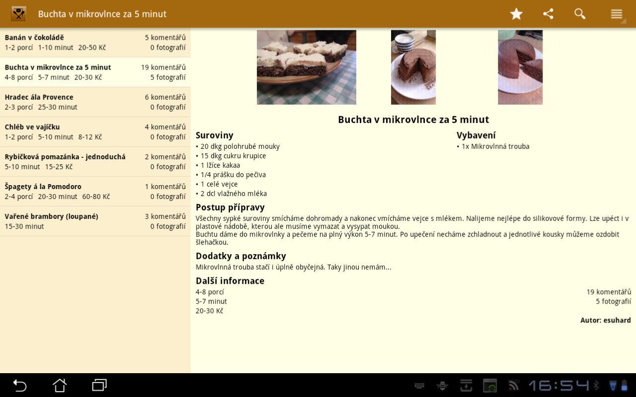 Studentská kuchařka HD- screenshot