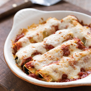 Cannelloni with Chicken Sausage & Spinach.