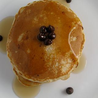 Whole Wheat Chocolate Peanut Butter Pancakes.