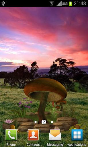 3D Mushroom Live Wallpaper