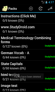 StudyDroid Flashcards 2.0-Pro - screenshot thumbnail