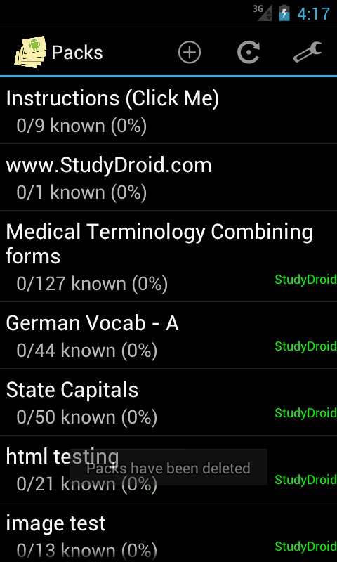 StudyDroid Flashcards 2.0-Pro - screenshot