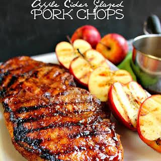 Apple Cider Glazed Pork Chops.