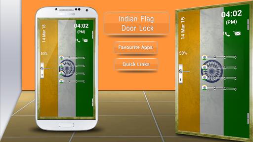 Indian Flag Door Lock