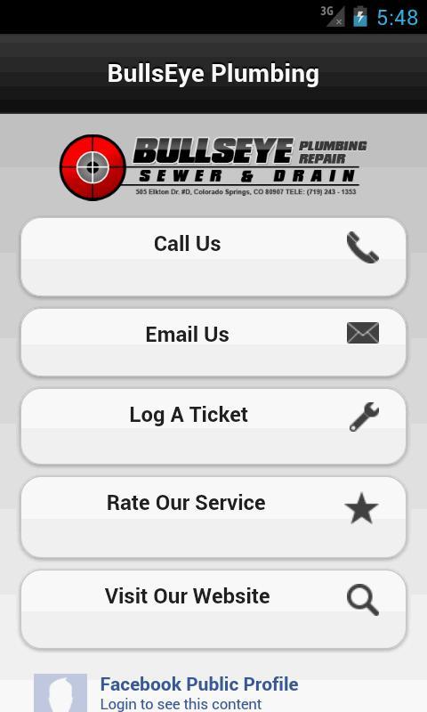 BullsEye Plumbing- screenshot
