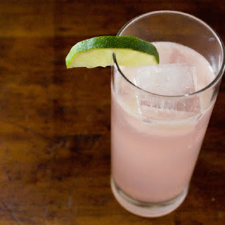 Rhubarb and Ginger Cocktail.