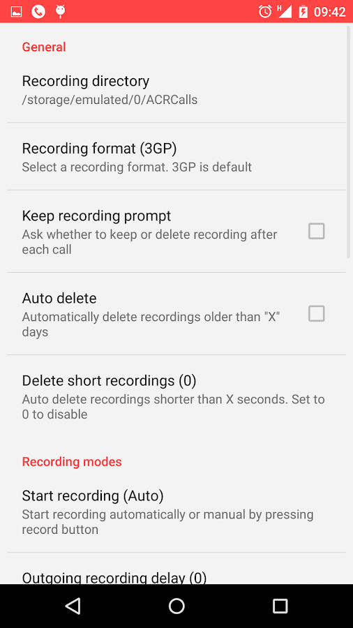 Call Recorder - ACR - screenshot