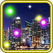 City Fireflies live wallpaper
