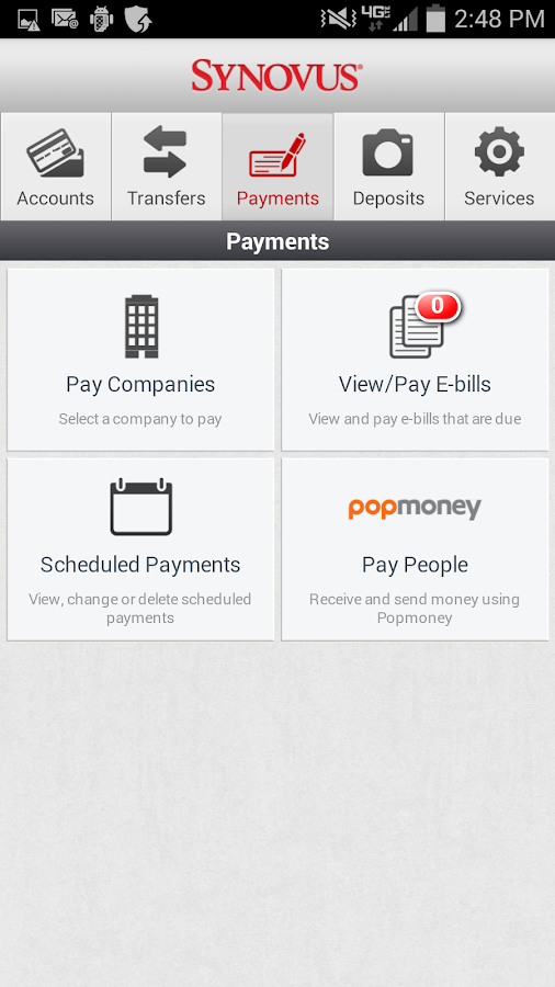 Synovus Mobile Banking- screenshot