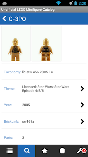 The LEGO Minifigure Catalog - screenshot thumbnail