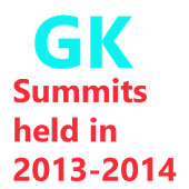 Summits Held in 2013-2014