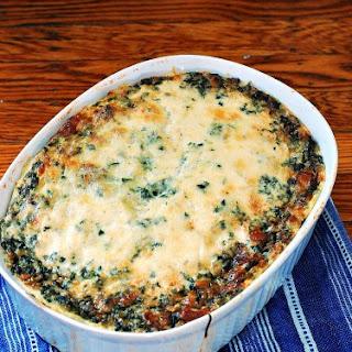 Spinach, Sausage and Polenta Breakfast Casserole #SundaySupper