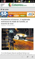 Screenshot of aCotonou.com