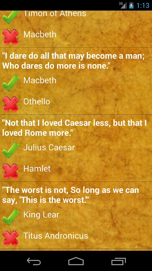 Quotes Quiz Adorable Shakespeare Quotes Quiz  Android Apps On Google Play