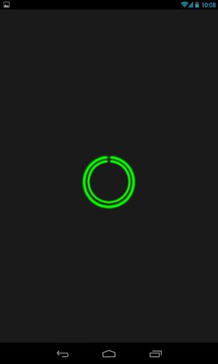 Green C-Circle Neon Clock