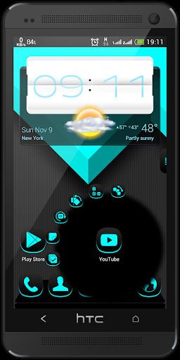 Next Launcher Dafna Cyan 3D 個人化 App-癮科技App
