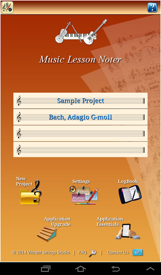 Music Lesson NotePad- screenshot