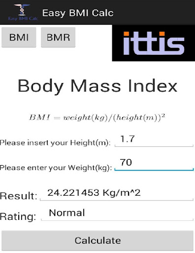 Easy BMI Calc